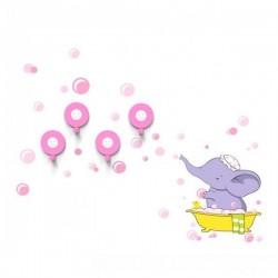 Słoń w Kąpieli wieszaczki łazienkowe - D4Kids