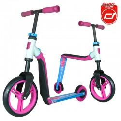 Highwaybuddy 2w1 hulajnoga i rowerek 3+ Pink - Scootandride
