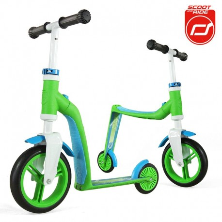 Highwaybuddy 2w1 hulajnoga i rowerek 1+ Green - Scootandride