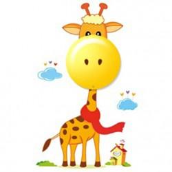 Lampka Nocna LED Rozmarzona Żyrafa - D4Kids